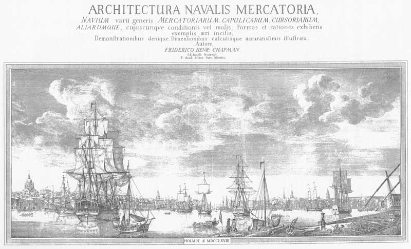Title page of Chapman, Architectura Navalis Mercatoria, 1768